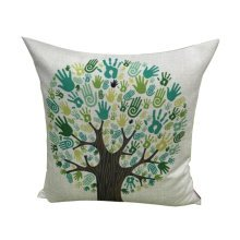 Linen Modern Pillow Cover Cushion Bolster Pillow Cases Tree
