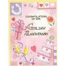 Congratulation on your Golden Anniversary Greeting Card by Cardio