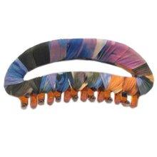 Fashion Crescent Hair Clips Hand-wrapped Moon Headdress Hair Ornaments, Blue Peach