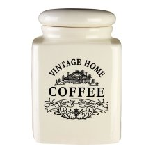 Vintage Home Coffee Jar | Cream Vintage Coffee Canister