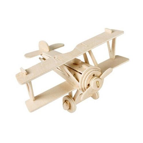 3-D Wooden Jigsaw Puzzle?biplane
