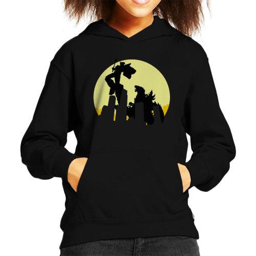 Voltron Versus Godzilla Kid's Hooded Sweatshirt
