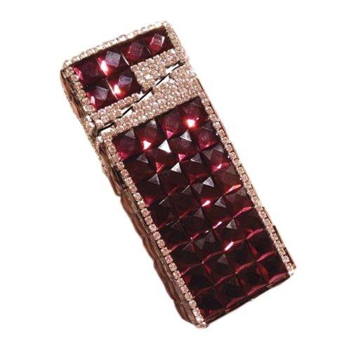 Stylish Luxury Rhinestone Small Cigarette Case Great Gift for Girlfriend, Purple