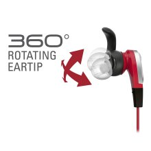 Audio-Technica ATH-CKX5iS Red In Ear Headphones for Smartphones