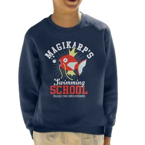 Magikarps Swimming School Pokemon Kid's Sweatshirt