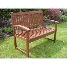 Henley 2 Seat Hardwood Garden Bench 106cm Quality Patio Furniture
