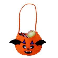 Trick Or Treat Pumpkin Halloween Party Decor Children Prop Candy Storage-A2