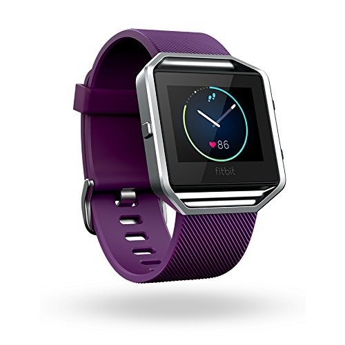 Fitbit Blaze Smart Activity Tracker and Fitness Watch with Wrist Based Heart Rate Monitor - Plum/Large
