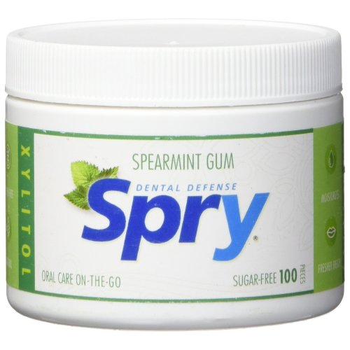 Spry Xylitol Gum, Natural Spearmint, 100ct
