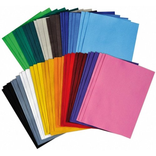Pbx2470461 - Playbox - Felt Sheets (18 Colours) - 30 X 20cm - 54 Pcs