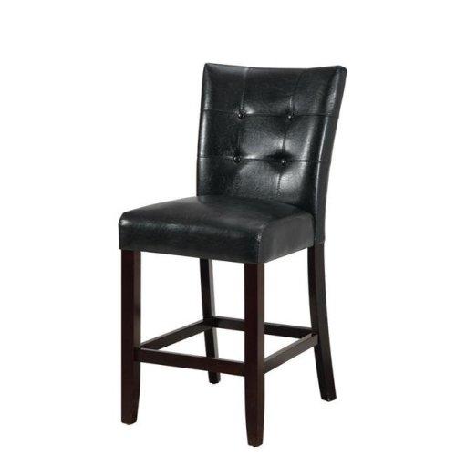 Benzara BM166660 40 x 19 x 24 in. Wood & Polyurethane High Chair - Black & Brown, Set of 2