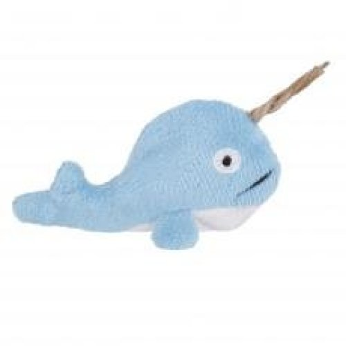 Ministry Of Pets Norman The Narwhal Catnip Toy With Catnip Tube (Pack of 12)