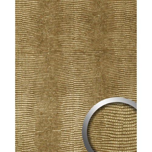 WallFace 19778 Antigrav LEGUAN Gold Wall panel leather look matt gold 2,6 m2