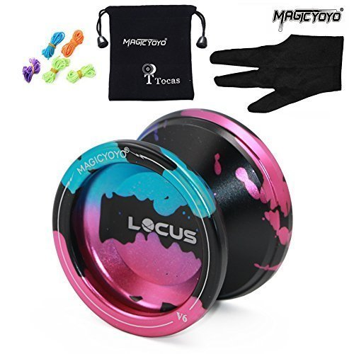 Responsive Magic Yoyo Ball V6 LOCUS Tria-colors Splashes Alloy Yoyo Set for Kid Beginner Streamlined Design