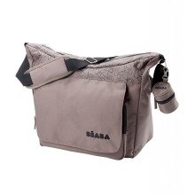 Beaba Vienna Nursery Bag in Taupe & Black