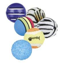 Set Toy Balls, Ø 3.5–4 Cm, 6 Pcs. - Cat Balls Trixie Playing Kitten Cats 4523 -  cat balls 6 trixie set toy playing kitten cats 4523