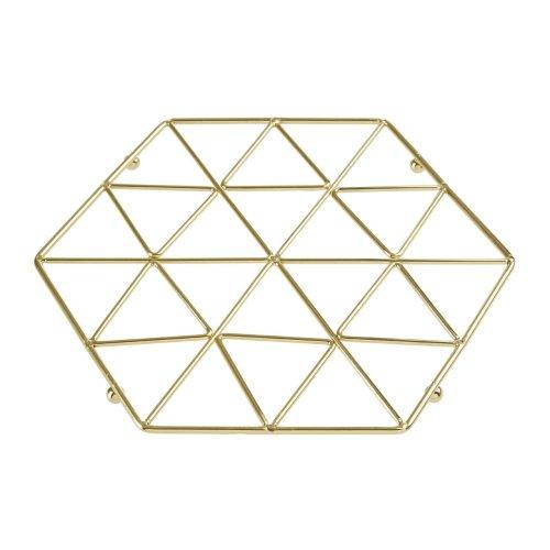 Vertex Gold Trivet | Geometric Gold-Tone Pan Rest