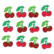 Sew Cute Cherries - Novelty Craft Buttons & Embellishments by Dress It Up