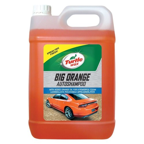 Turtle Wax Big Orange Car Shampoo Cleans with Streak Free Finish 5 Litre