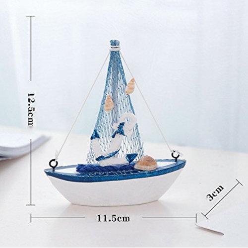 Vintage Ship Marine Blue Sailboat, Boat, Wooden Craft
