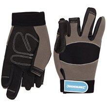 Silverline Part Fingerless Mechanics Gloves Medium - 675288 -  fingerless mechanics gloves part silverline medium 675288