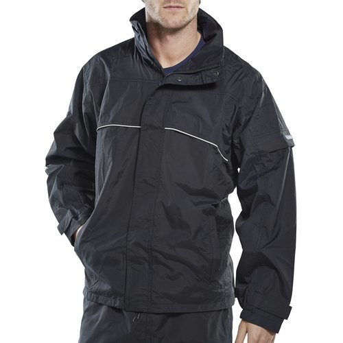 Click SJNL Springfield Taslon Breathable Jacket With Concealed Hood Navy Blue Large