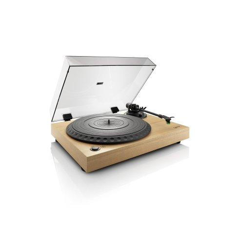 Lenco L-91 Wood | 33 & 45 RPM Belt Drive USB Turntable for Vinyl with Integrated Stereo Pre-Amplifier and Premium Audio Technica AT-95 Cartridge -...
