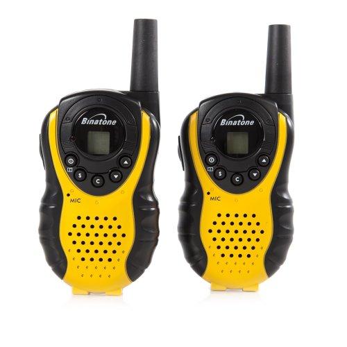 Binatone Latitude 100 Black/Yellow Twin Pack Walkie Talkie With Upto 3 km Range