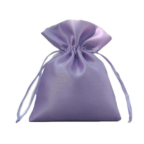 Pure Color Candy Pouch Drawstring Bag Cloth Gift Bag 35pcs-Purple