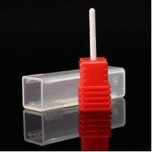 Red Ceramic Nail Drill Bits Manicure Pedicure Tool