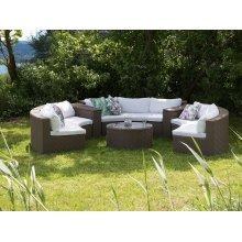 Garden Sofa Set - Patio Set - Rattan - 9 Seater Sofa Set - Light Brown - SEVERO