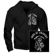 Sons Of Anarchy -  sons anarchy samcro hoodie zip front medium brand new