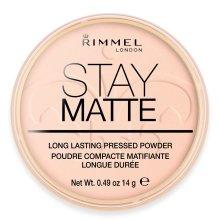 Rimmel London Stay Matte Pressed Powder, 002 Pink Blossom, 14 g