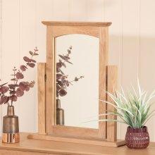 Malvern Shaker Oak Dressing Table Mirror