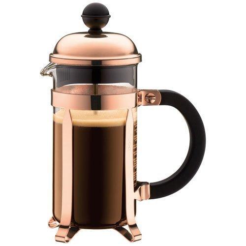 BODUM Chambord 3 Cup French Press Coffee Maker, Copper, 0.35 l, 12 oz