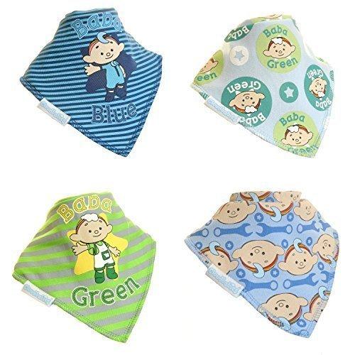 Cloudbabies Bib - Boys - 4pk - Baby Bibs Zippy Official Pack 4 Bandana Gift -  baby cloudbabies boys bibs zippy official pack 4 bandana gift