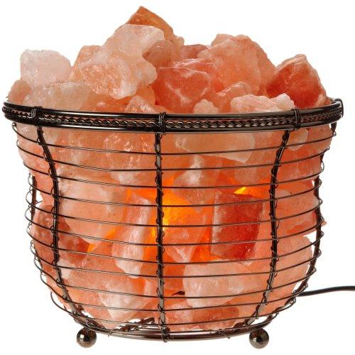 WBM Himalayan Glow 1301B Natural Air Purifying Round Style Basket Salt Lamp