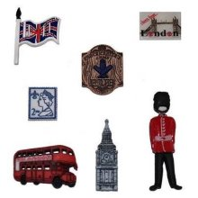 England / London - Novelty Craft Buttons & Embellishments by Dress It Up