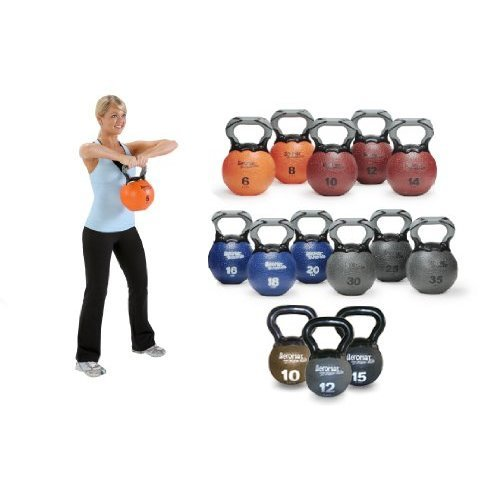 Aeromat Elite Kettlebell Medicine Ball Weight, 8 LB - Orange