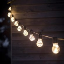 Festoon Lights with 10 Bulbs | Warm White Festoon Lighting