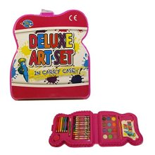 33 Pieces Childs Art Set in a Plastic Carry Case