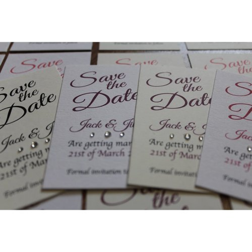 50 Personalised Magnetic Wedding Save the Date Cards and Envelopes