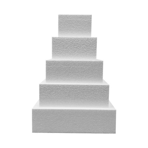 """Set of Square Cake Dummy 5"""" High Includes 8"""", 10"""", 12"""", 14"""" and 16"""