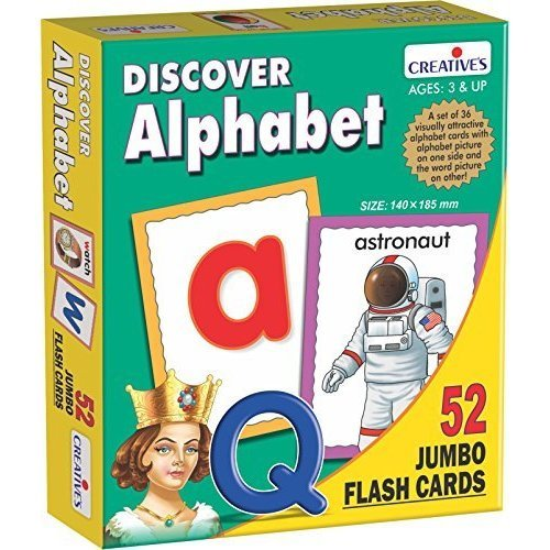Creative Educational - Discover Alphabet (flash Cards) - Flash Cre0454 Iscover -  creative educational alphabet flash cre0454 iscover cards discover