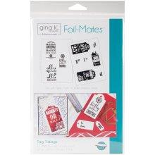 "Gina K Designs Foil-Mates Background 5.5""X8.5"" 10/Pkg-Tag Tidings"