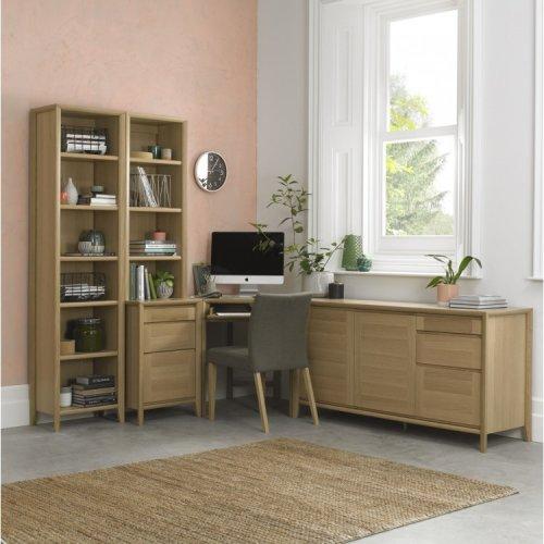 Bentley Designs Bergen Oak Corner Office Desk Package
