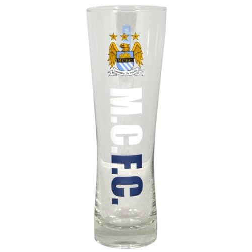 Manchester City Wordmark Crest Peroni Pint Glass - Fc Tall Beer Official -  glass manchester city fc tall beer pint official peroni football