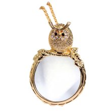 Fashion Magnifying Glass Necklace Owl Necklace Magnifier, Gold