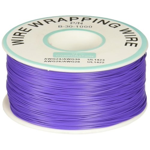 1000Ft Circuit Board JTAG Tin-Plated Copper Wire 0.25mm 30AWG Purple