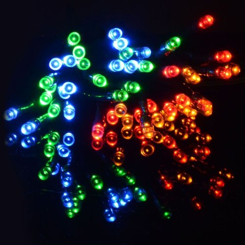 String Chaser Lights 400 Multi Coloured LED Garden Party Christmas Outdoor